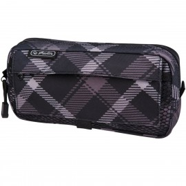 11281714 PENCIL POUCH 2 ADD. BAGS CHECKED GREY
