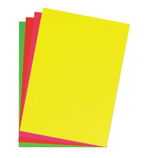 poster cardboard 48x68 cm bright red