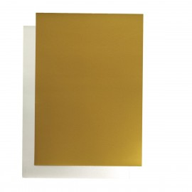 poster cardboard 48x68 cm gold