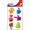 Labels hands FSC 3 sheets self-adhesive