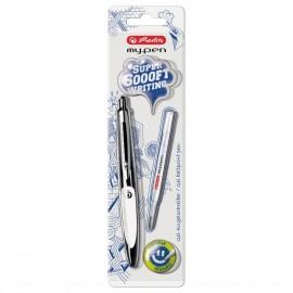 Gel ballpoint pen my.pen black/white