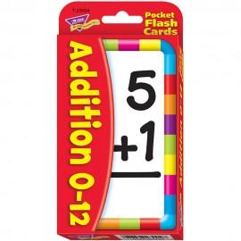 T23004 Addition 0-12 Pocket Flash Cards