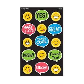 T-46350 Emoji Talk Super Shapes Large Stickers