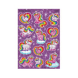 T-63353 Sparkly Unicorns Sparkle Large Stickers